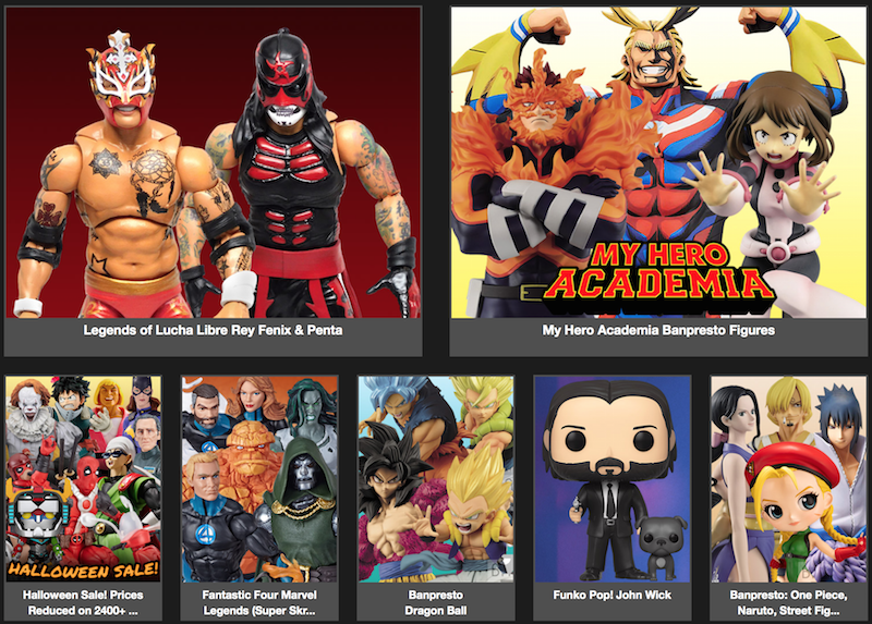 BigBadToyStore News – Fantastic 4 Marvel Legends, Lucha Bros. My Hero Academia, Star Wars, Mortal Kombat, IT, Power Rangers & More