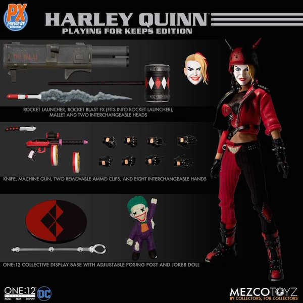 Mezco Toyz DC Comics – One:12 Collective Harley Quinn Previews Exclusive Figure Pre-Orders