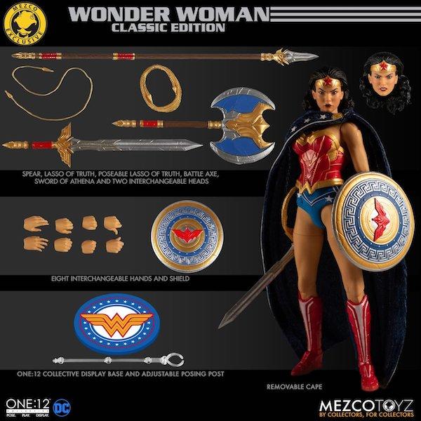 Mezco Toyz DC Comics – One:12 Collective Wonder Woman Classic Edition Figure Pre-Orders