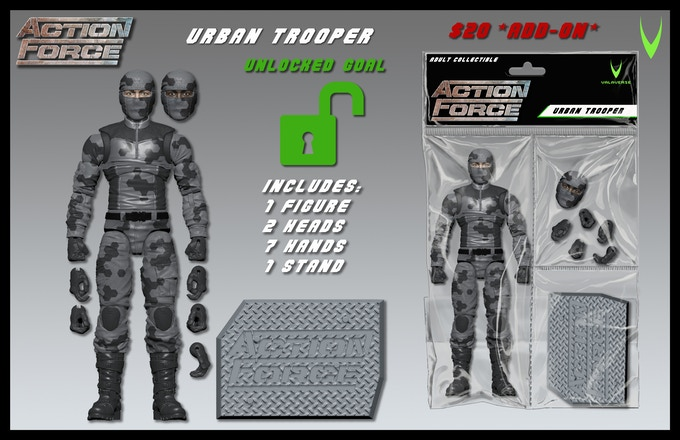 Valaverse – Action Force Kickstarter Urban Trooper Figure Unlocked
