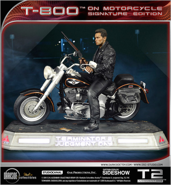 Terminator 2: Judgement Day – T-800 On Motorcycle Statue Pre-Orders