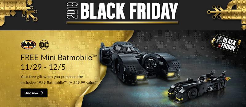 LEGO Shop Black Friday 2019 Offers – Free Christmas Tree & Mini Batmobile