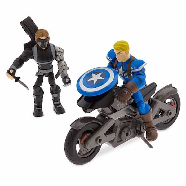 Disney Store Exclusive – Marvel Toy Box Captain America Motorcycle Set Available Now