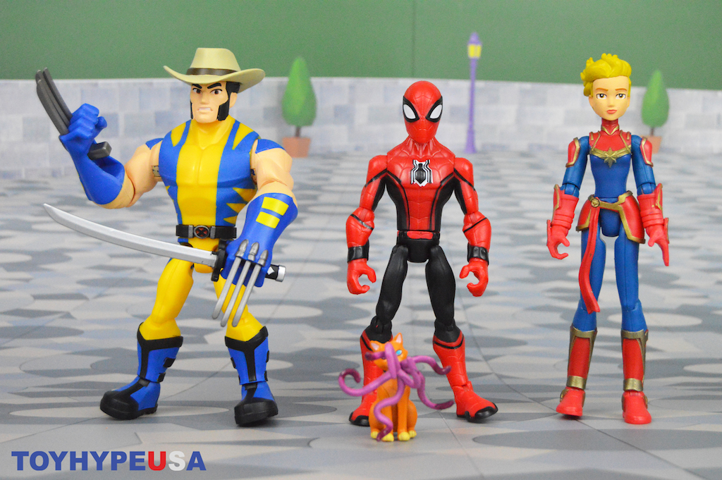 Disney Store Exclusive – Marvel Toy Box Captain Marvel, Wolverine & Spider-Man Figures Review