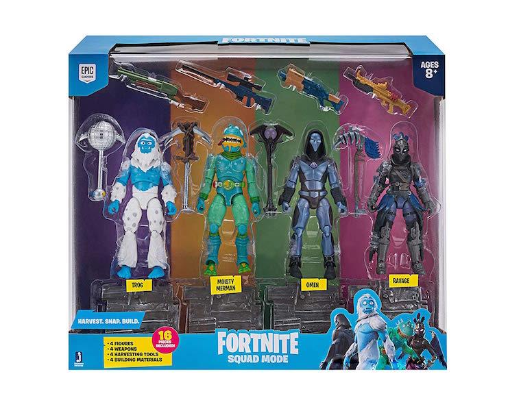 Jazwares Fortnite Squad Mode Figure 4-Pack Now $26 On Amazon