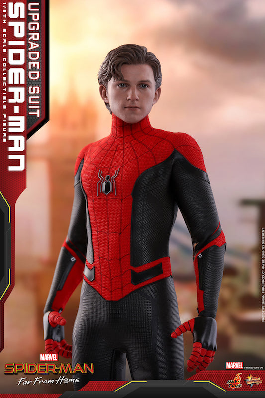 Hot Toys Spider-Man: Far From Home Upgraded Suit Spider-Man Sixth Scale Figure Unmasked Head Sculpt Update