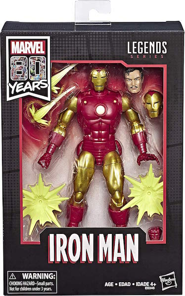 Hasbro Marvel Legends 6″ 80th Anniversary Classic Iron Man Figure Now $13 On Amazon