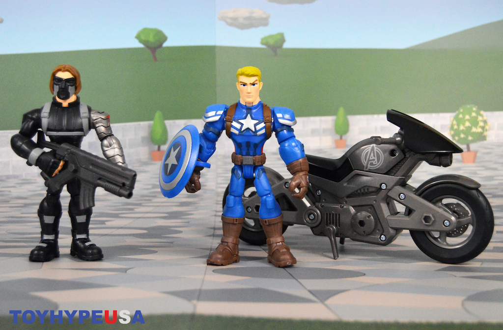 Disney Store Exclusive – Marvel Toy Box Captain America Motorcycle Set Review