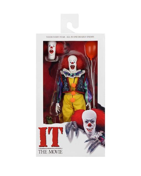 NECA Toys Pennywise 1990 8″ Clothed Figure Available Now