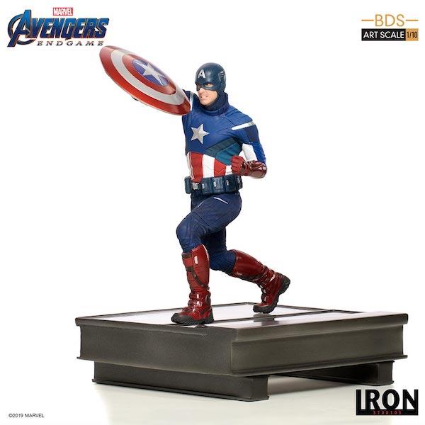 Iron Studios – Avengers: Endgame – Captain America & Captain Marvel Statues
