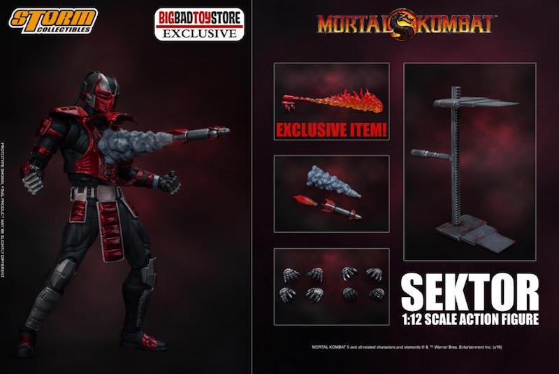 BigBadToyStore Exclusive – Storm Collectibles Mortal Kombat Sektor Figure
