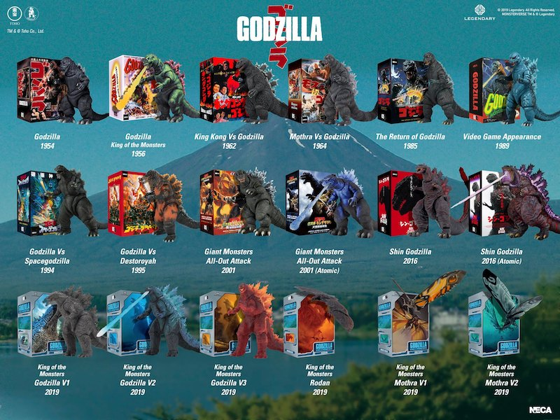 NECA Toys 5 Days Of Downloads Bonus – Godzilla Action Figure Visual Guide