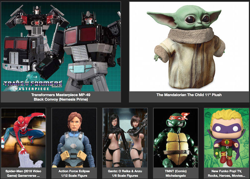 BigBadToyStore – Baby Yoda, Mortal Kombat, Mandalorian, Gantz, X-Men, LotR, Anime, Nintendo & More