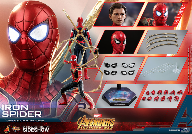 Hot Toys Avengers: Infinity War Iron Spider Sixth Scale Figure Pre-Orders