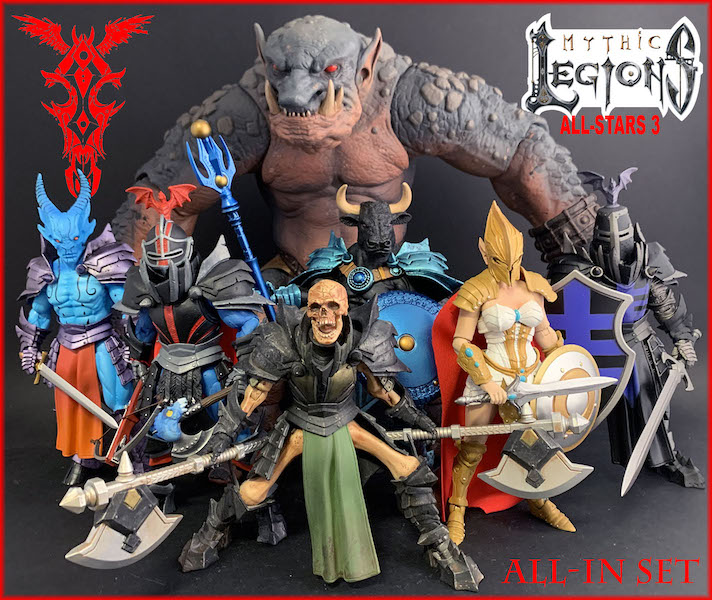 Four Horsemen Studios – Mythic Legions All-Stars 3 Figures