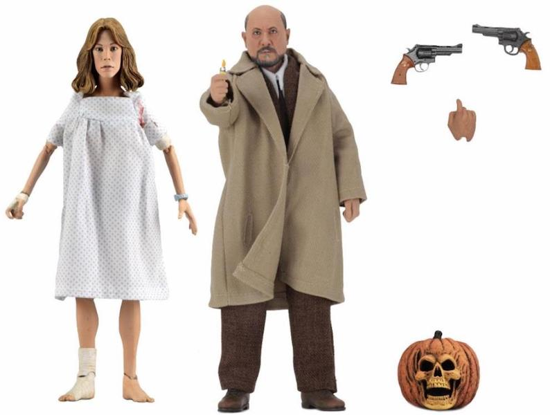 NECA Toys Halloween 2 Doctor Loomis & Laurie Strode 2-Pack Figures