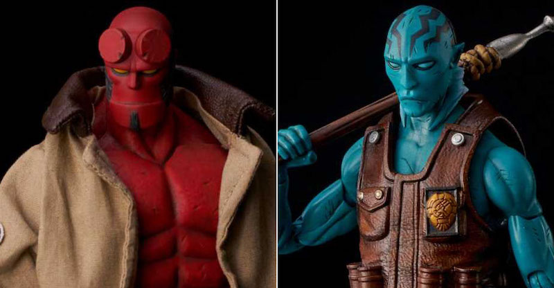 Previews Exclusive Hellboy & Abe Sapien 1/12th Scale Figures By 1000 Toys