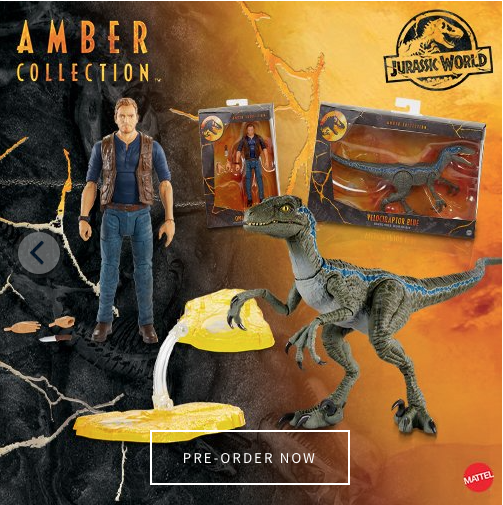 Mattel – Jurassic World 6″ Amber Collection Owen & Blue Figure Pre-Orders Start February 1st