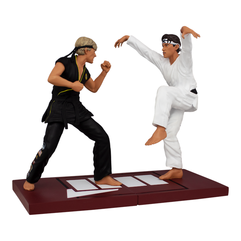 Icon Heroes – GameStop Exclusive The Karate Kid Tournament Daniel Vs Johnny Statue Set