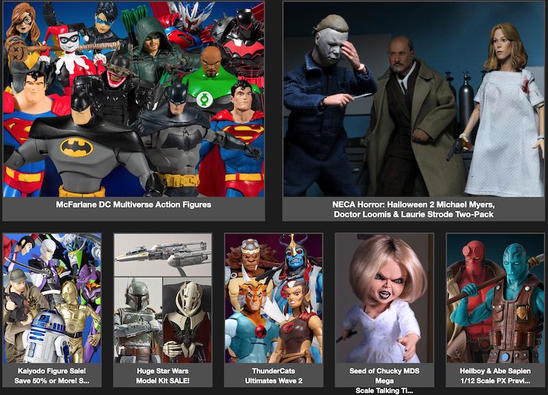 BigBadToyStore – Halloween, DC Multiverse, Hellboy, Thundercats, Kaiyodo & Star Wars Model Kit Sales, Power Rangers & More