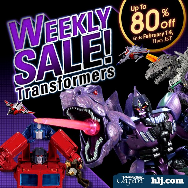 Hobby Link Japan – Transformers Weekly Sale With Up To 80% Off