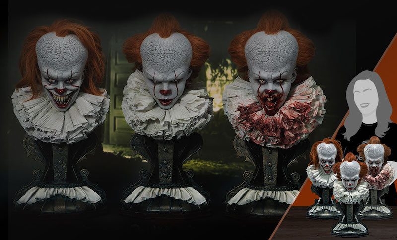 Prime 1 Studio Pennywise Bust Set Collectible Set Pre-Orders