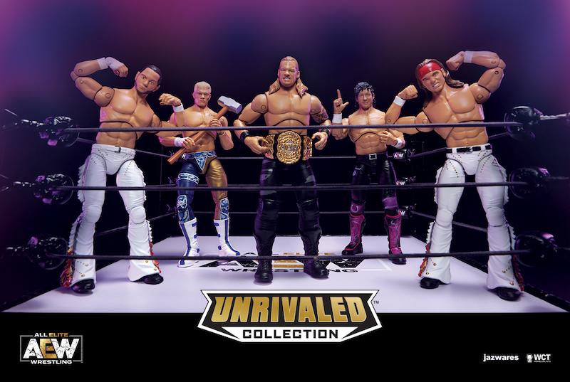 """All Elite Wrestling & Jazwares Unveil """"Unrivaled"""" Toy Line"""