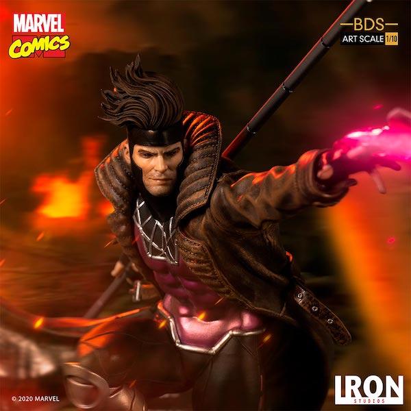 Iron Studios – Marvel Comics Gambit Battle Diorama Scale 1/10 Statue Pre-Orders