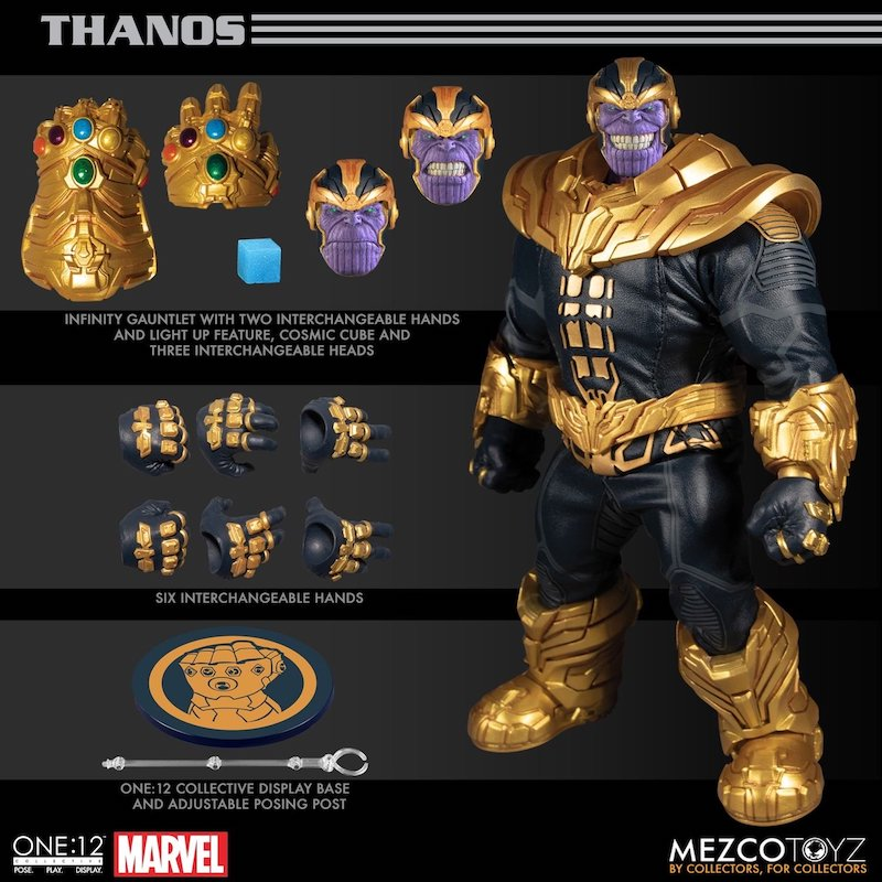 Mezco Toyz One:12 Collective – Marvel Comics Thanos Figure