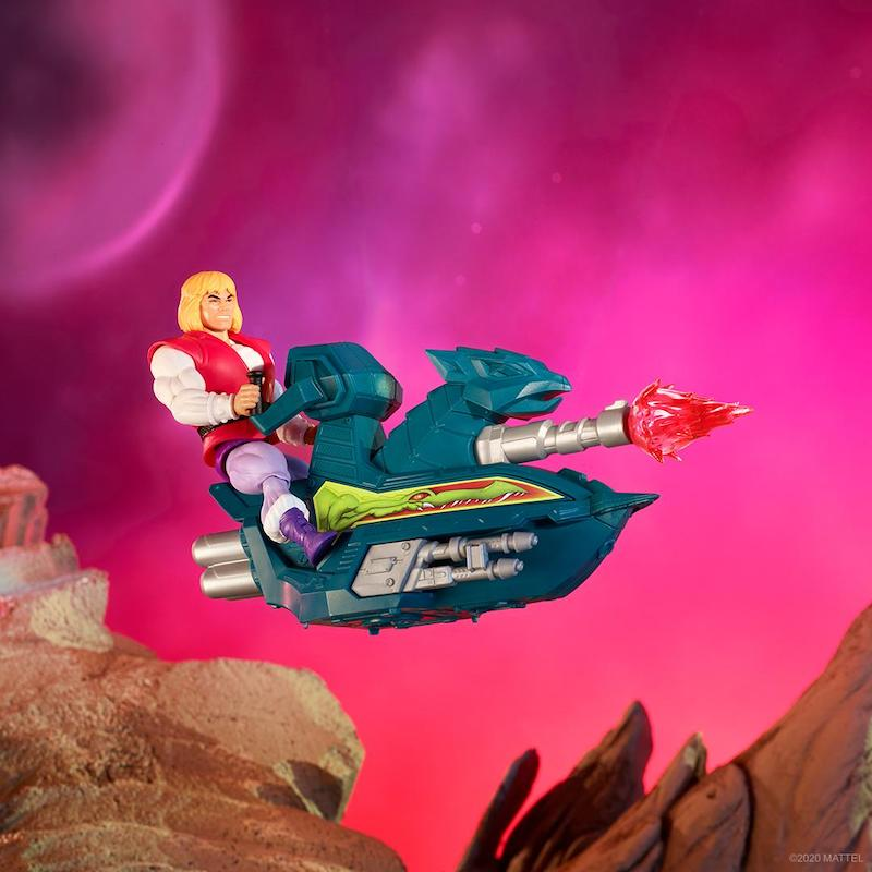 Mattel – Masters Of The Universe Origins Prince Adam With Sky Sled Figure