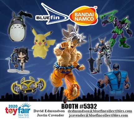 Bluefin & Bandai Announce Plans & New Products For New York ToyFair 2020