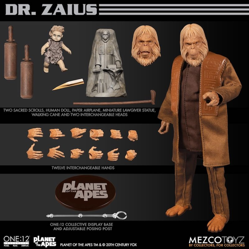 Mezco Toyz Planet Of The Apes One:12 Collective – Dr. Zaius Figure