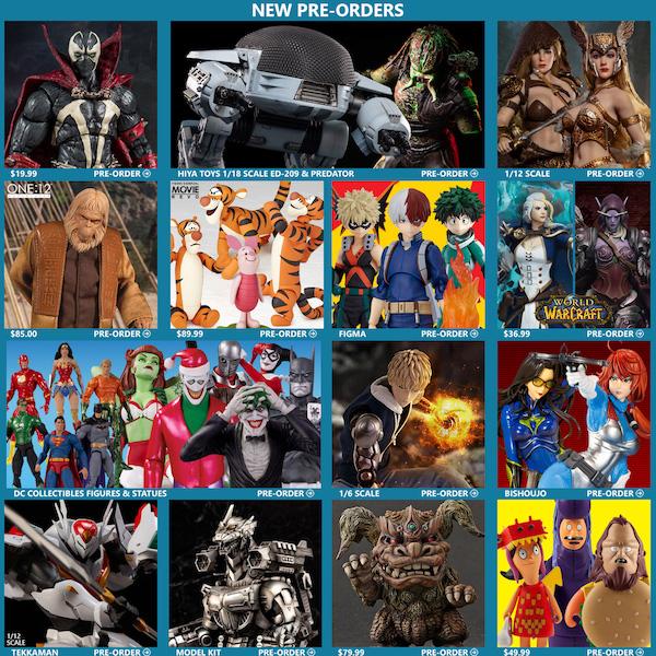 BigBadToyStore – Spawn, ED-209, My Hero Academia, TBLeague, Dr. Zaius, Tigger, Godzilla, DC & More