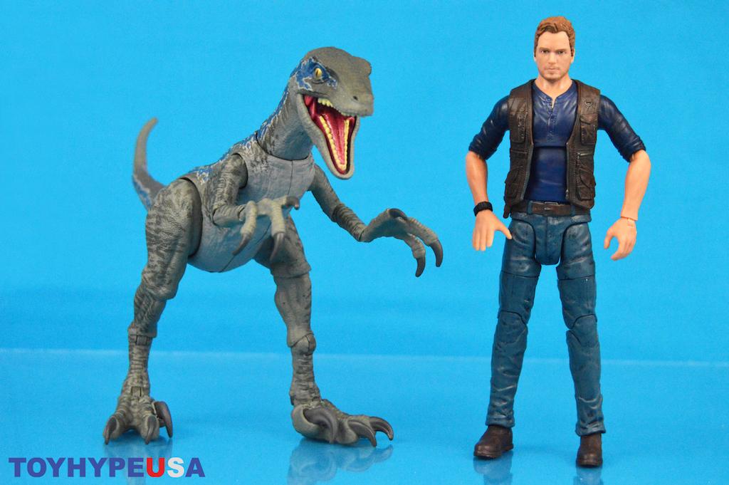 Mattel – Jurassic World Amber Collection Owen Grady & Velociraptor Blue Figures Review
