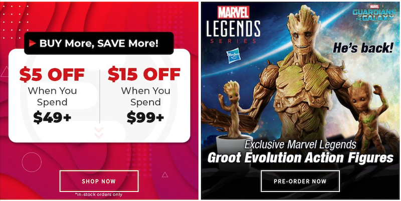 Entertainment Earth – Marvel Legends Groot, Baby Yoda, Sonic, Dragon Ball, Bride Of Chucky & More