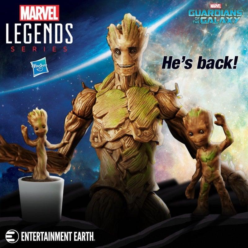 Hasbro Marvel Legends Guardians Of The Galaxy Groot Evolution Figures Set Returns