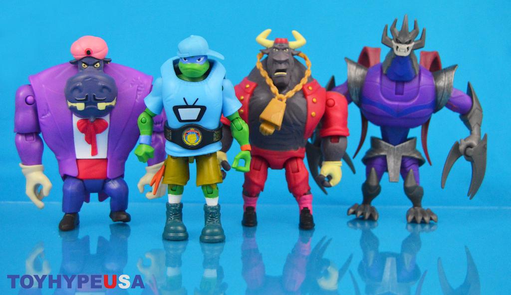 Playmates Toys – Rise Of The Teenage Mutant Ninja Turtles Shredder & Wrestling Leo Figures Review