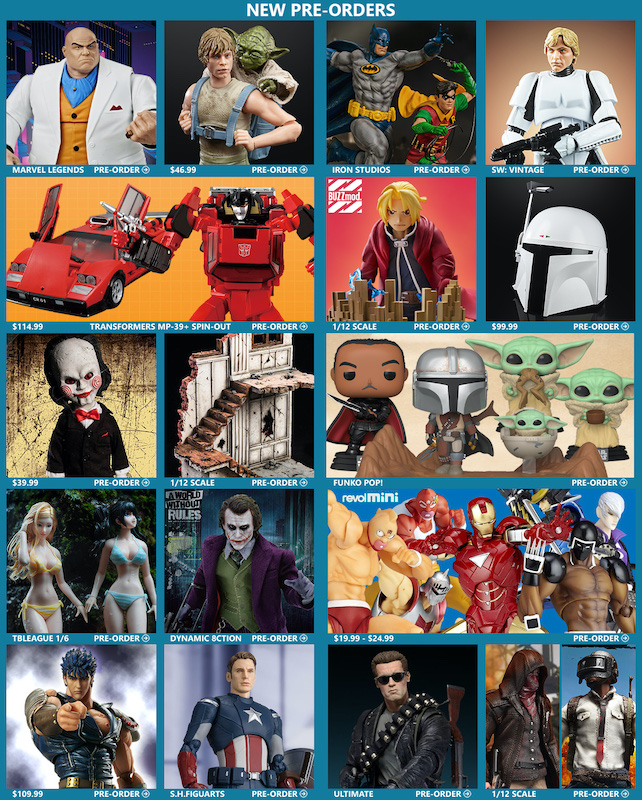 BigBadToyStore – Kingpin, DC, Star Wars, TF Masterpiece, Fullmetal Alchemist, TBLeague, Captain America, Terminator & More