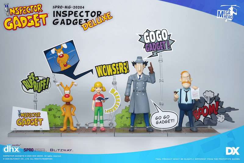Blitzway Inspector Gadget 1/12th Scale Deluxe Figure Set In-Stock On Amazon