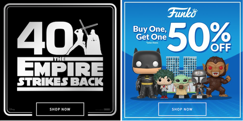 Entertainment Earth – Star Wars 40th Anniversary, Funkoween, Funko Sale, New Pop!s & More