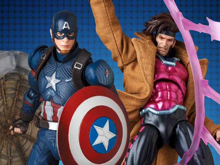 Medicom – MAFEX Avengers: Endgame Captain America & Marvel's Gambit Figures