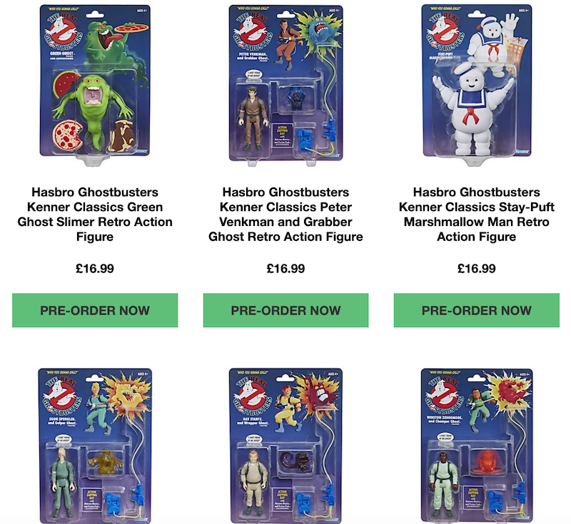 Zavvi U.K. Store – Hasbro Real Ghostbusters Kenner Classics, Transformers & More