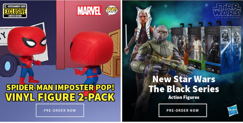 Entertainment Earth – Funko, Spider-Man Imposter 2-Pack, Star Wars TBS & More