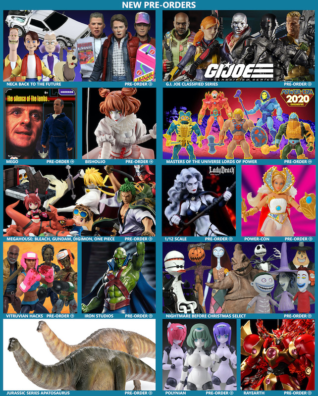 BigBadToyStore – Back to the Future, Joker, Gundam Universe Sale, G.I. Joe, MOTU, Mandalorian, Lady Death, Dinosaurs & More