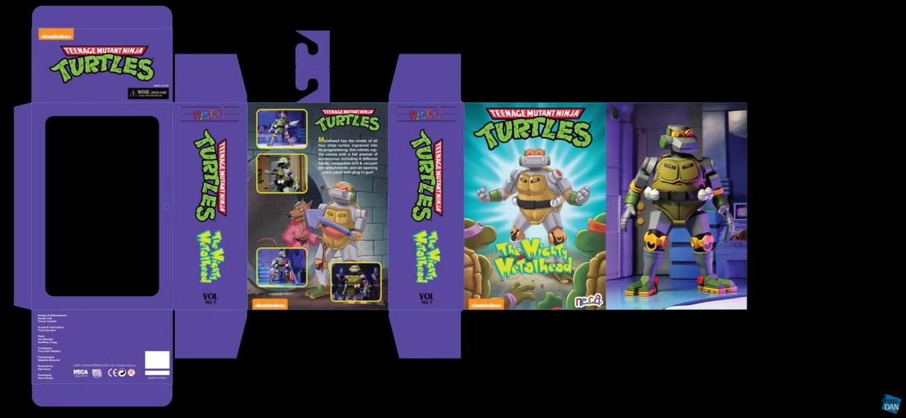 NECA Toys Teenage Mutant Ninja Turtles Deluxe Metal Head Figure Packaging