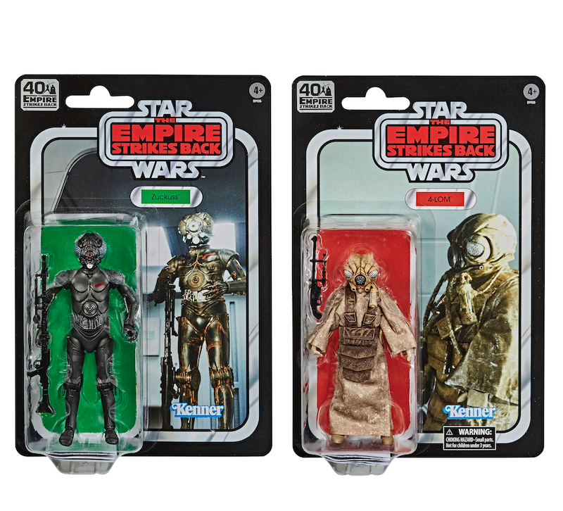 Hasbro Star Wars TBS 4-LOM & Zuckuss, Han In Carbonite & Carbonized Darth Vader Pre-Orders On Amazon