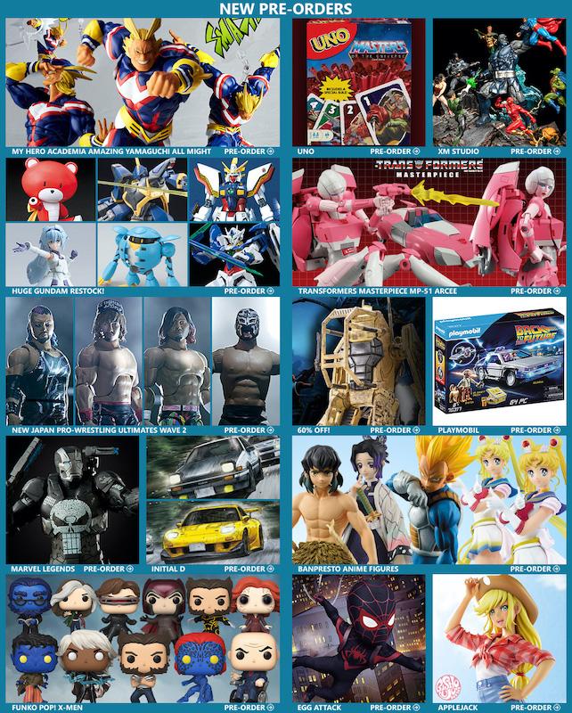 BigBadToyStore – All Might, NJPW, Gundam, MOTU, MP-51 Arcee, Godzilla, Funko, Alien, BTTF, Arcade Games & More
