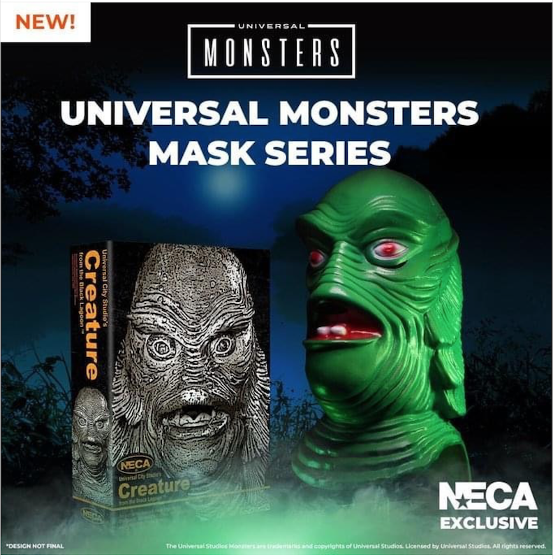 NECA Toys Lootcrate Exclusive Universal Monster Mask Series