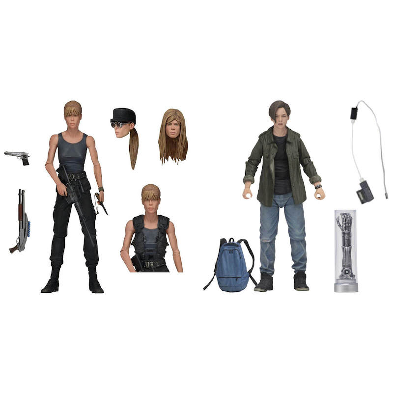 NECA Toys Terminator 2: Judgment Day Sarah Connor & John Connor 2 Pack – New Figure Images