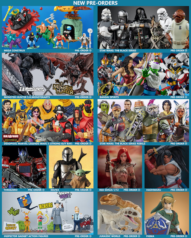 BigBadToyStore – MOTU, Dragon Ball, Mandalorian, Monster Hunter, Marvel Legends, Star Wars Black, Inspector Gadget & More